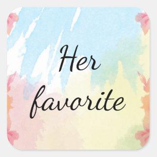 Suas etiquetas favoritas do favor do casamento do adesivo quadrado