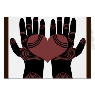 Suas mãos são cartão cura das mãos
