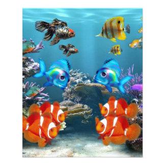 Subaquático Panfletos Personalizados