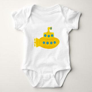 Submarino amarelo body para bebê