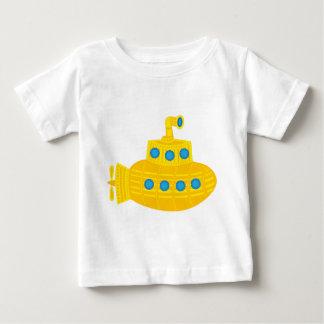 Submarino amarelo camiseta para bebê