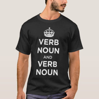 Substantivo do verbo e substantivo do verbo tshirt
