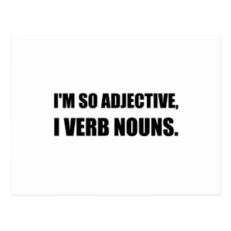 Substantivos do verbo do adjetivo cartão postal