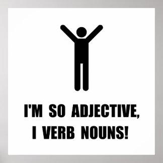 Substantivos do verbo do adjetivo pôster