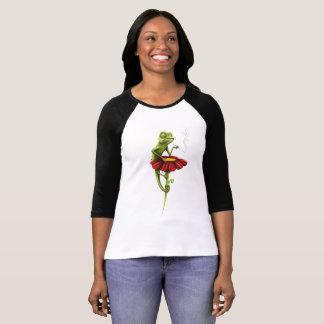 Subtil, colorido, camisa do impressão do camaleão