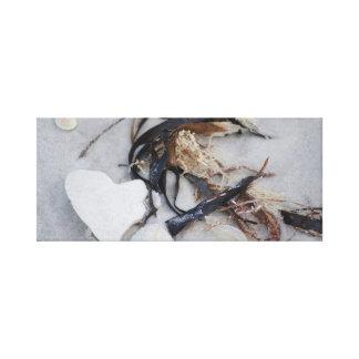 Sucata da praia na lona envolvida impressão em tela