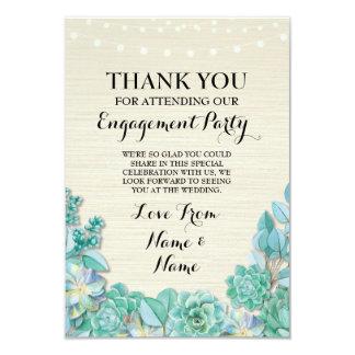 Succulent do casamento do noivado dos cartões de convite 8.89 x 12.7cm