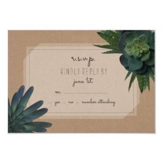 Succulent que Wedding RSVP Convite 8.89 X 12.7cm