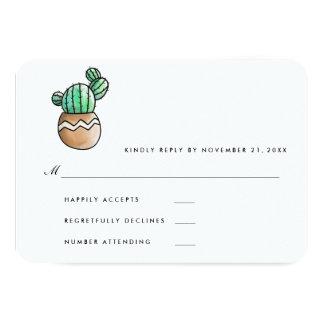 Succulent RSVP Wedding mínimo rústico Convite 8.89 X 12.7cm