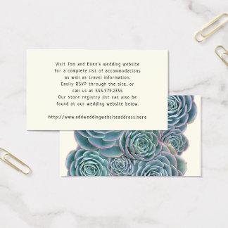 Succulents azuis que Wedding cartões do cerco no