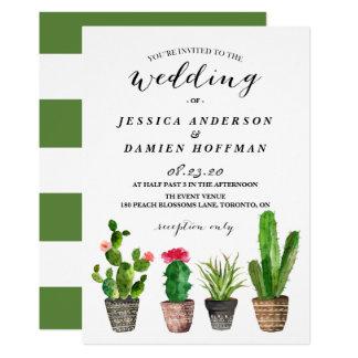 Succulents da aguarela de Boho que Wedding o Convite 12.7 X 17.78cm
