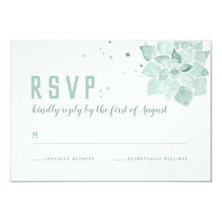 Succulents da aguarela que Wedding o cartão do