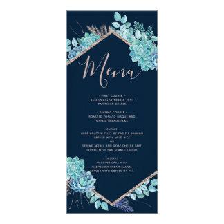 Succulents dos azuis marinhos & menu cor-de-rosa
