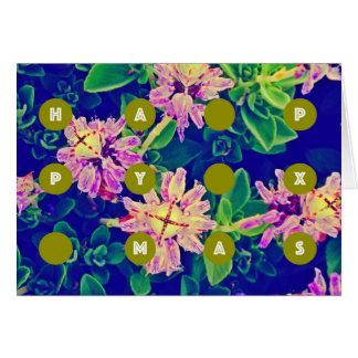 Succulents estranhos do cartão feliz do xmas