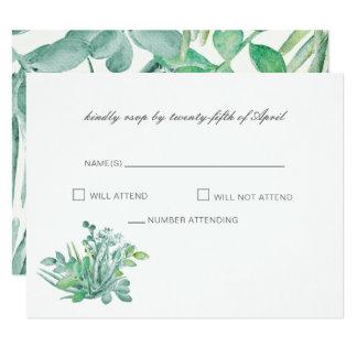 Succulents sensacionais que Wedding cartões de Convite 10.79 X 13.97cm