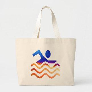 Sucesso da natação - mente legal em épocas quentes bolsas para compras