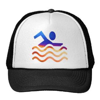 Sucesso da natação - mente legal em épocas quentes boné
