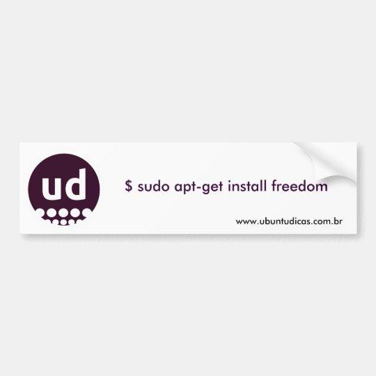 $ sudo apt-get install freedom adesivo para carro