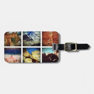 Sudoeste americano etiquetas de malas de viagem