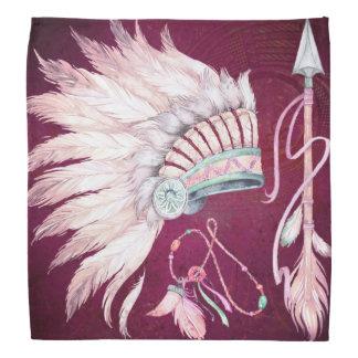 Sudoeste da seta da mantilha do nativo americano panos para cabeça