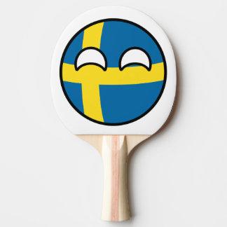 Suecia Countryball Raquete De Ping-pong