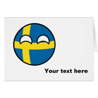 Suecia Geeky de tensão engraçada Countryball Cartão