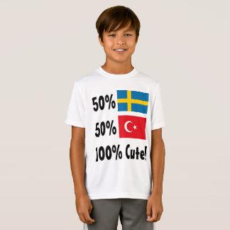 Sueco 100% do turco 50% de 50% bonito camiseta