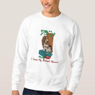 Suéter Bordado Arte de Basset Hound bordada no roupa
