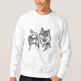 Suéter Bordado Camisetas bordadas customizáveis bonitas do lobo