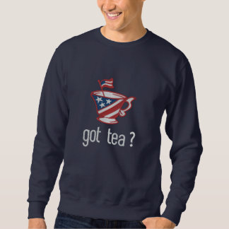 Suéter Bordado chá obtido? Slogan do tea party