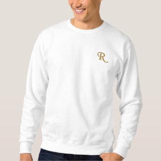 Suéter Bordado Criar a camisola bordada costume do monograma dos