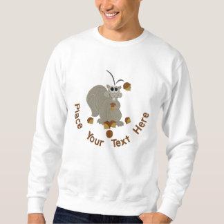 Suéter Bordado Esquilo da bolota