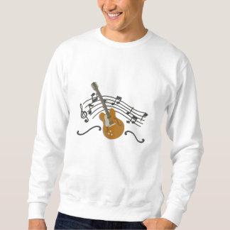 Suéter Bordado Guitarra da música do fazer