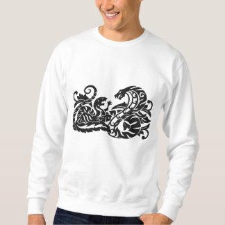 Suéter Bordado Mangusto e cobra