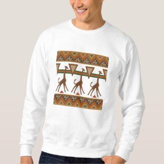 Suéter Bordado Os girafas africanos da arte bordaram a camisola