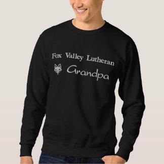 Suéter Bordado Vovô do Lutheran do vale do Fox