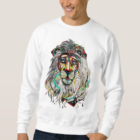 "Suéter masculino ""Colorful Lion"""