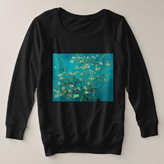Suéter Plus Size Árvore de amêndoa de florescência