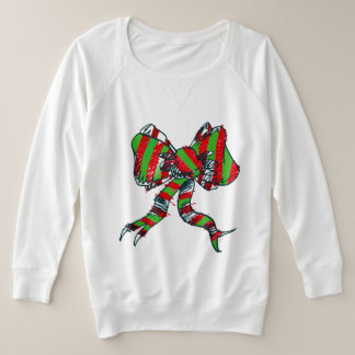 Suéter Plus Size Camisola do arco do Natal - para mulheres