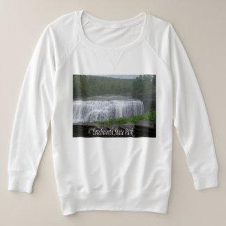 Suéter Plus Size Camisola do parque estadual de Letchworth
