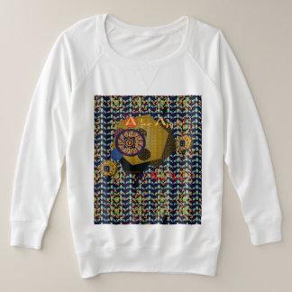Suéter Plus Size Camisola Mais-feita sob medida de Terry do francês