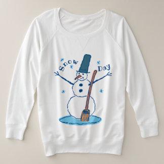 Suéter Plus Size Dia da neve do boneco de neve