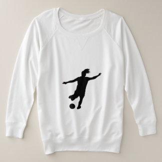 Suéter Plus Size Jogador de futebol da mulher