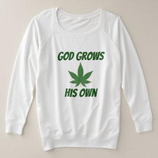Suéter Plus Size O deus cresce sua própria erva daninha