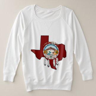 Suéter Plus Size Protetor/senhoras tribais de Texas mais o suor de