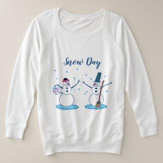 Suéter Plus Size Snowlady e seu boneco de neve