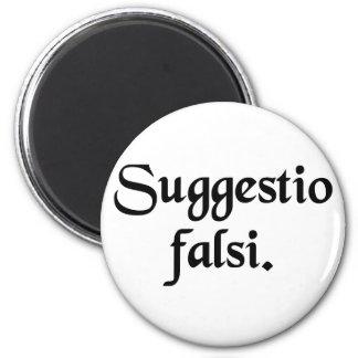 Sugestão de algo falso imã de geladeira