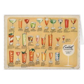 Sugestões do cocktail, cartão