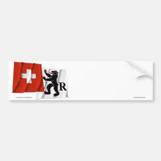 Suiça & bandeiras de ondulação de adesivo para carro
