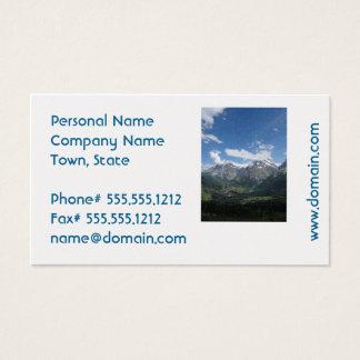 Suiça cénico cartão de visitas